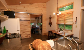 Wooden blinds from the Tiny House Nation project