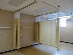 Curtains and curtain track for the medical industry