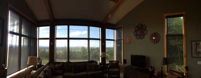 Large screen shades installed in Addison Vermont.