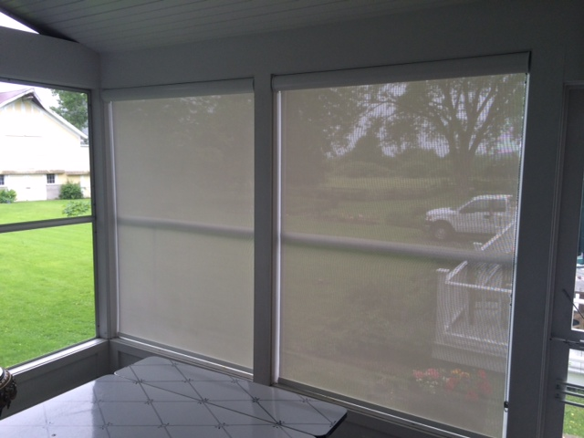 Exterior screen shades in Cornwall Vermont