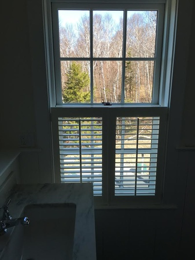 partial interior window shutters
