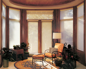 photo of installed custom window shades
